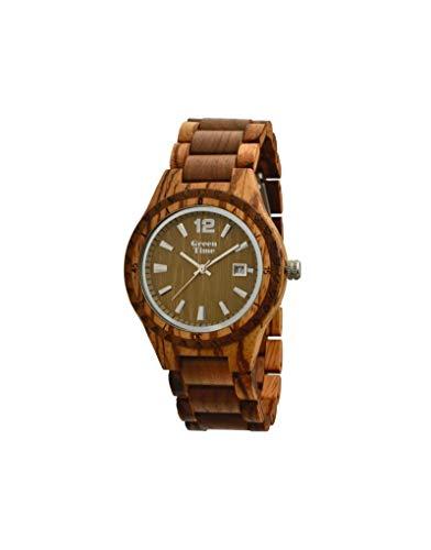 Orologio uomo in legno Green Time by Zzero zw074a