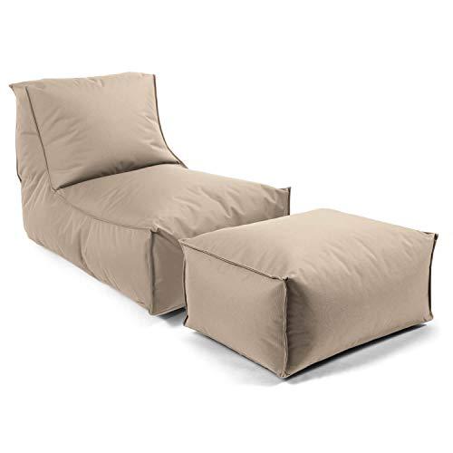 mokebo® Outdoor Sitzsack 'Der Sundowner', Bean Bag, Liege & leichte Relaxliege, Made in Schwarzwald