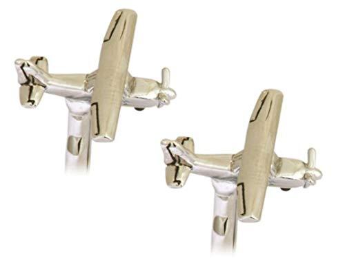 90-1423 Manschettenknöpfe Cessna 172 Flugzeug rhodiniert