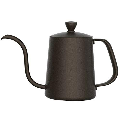 Cafetera de acero inoxidable 304 – Diseño de boquilla – Fácil de controlar el agua – Percolador de café – Tetera de boca larga – Una variedad de capacidad