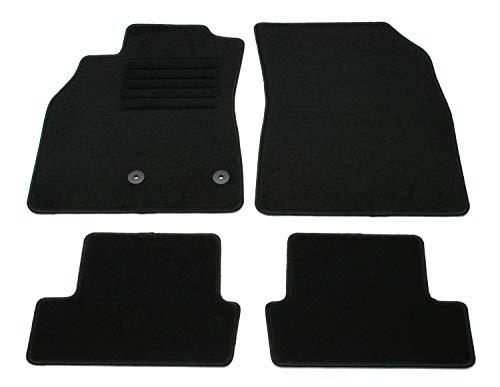AD Tuning GmbH HG13172 Velours Passform Fußmatten Set Schwarz Autoteppiche Teppiche Carpet Floor mats