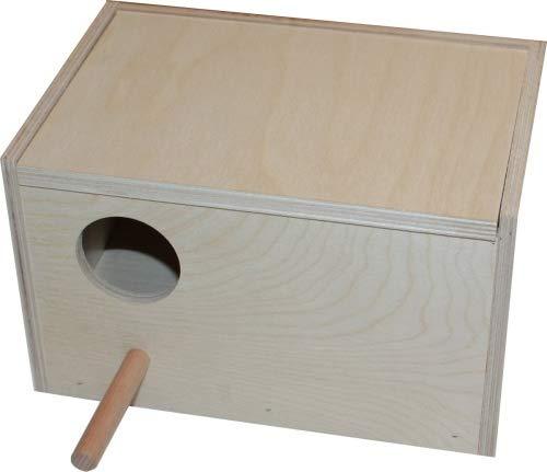 Hemel Nistkasten für Wellensittiche - 25 x 14 x 14 cm