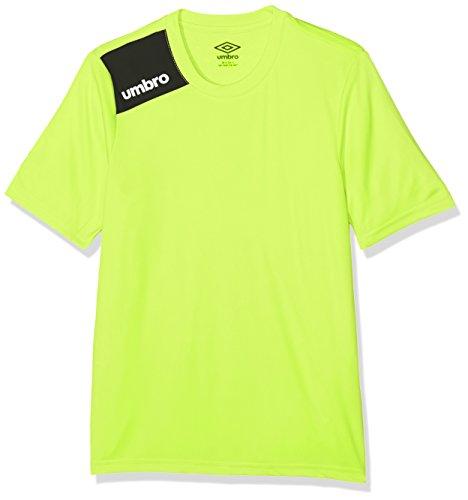 UMBRO Fight Jnr Camiseta de fútbol, niño, Amarillo, 12 años