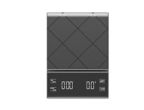 Küchenwaage, Digital Küche Waage, Elektronische Waage, Hohe Präzision auf bis zu 1g (3kg Maximalgewicht), Tara-Funktion, Edelstahl mit Großem LCD-Display