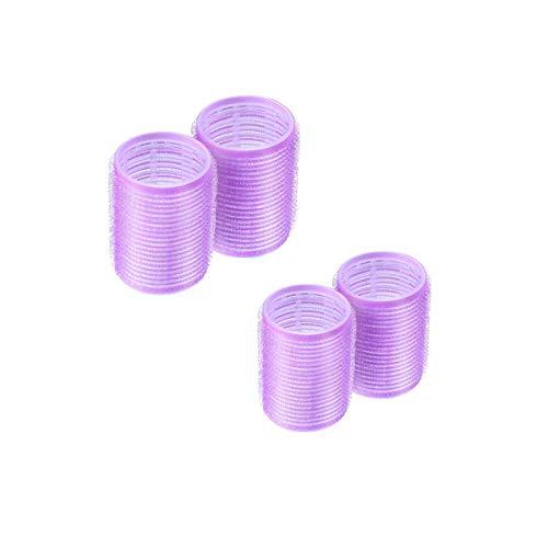 Rodillos para el cabello, 4 piezas Rulos fijos para mujeres, hombres y niños Herramientas de peluquería, Púrpura