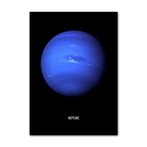 XIAONI Canvas Wall Art Printing,Personalised Universe Planet Neptune Vertical Art Canvas Prints Background Wall Hanging Pictures For Home Decoration Frameless,40X50Cm Frameless