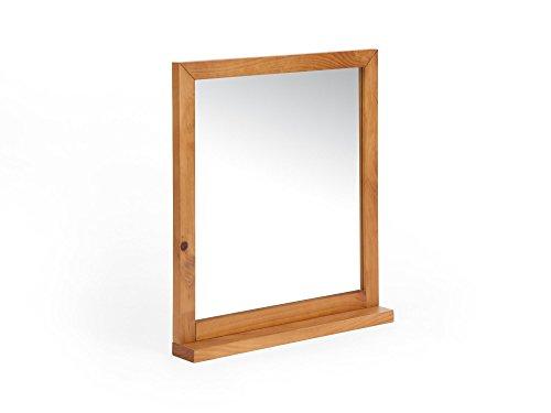 massivum Spiegel Babylon 70x80x10 cm Pinie braun lackiert