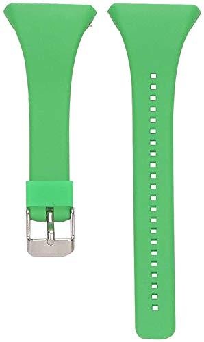 Inzopo - Cinturino per orologio Polar FT4/FT7, in morbido silicone regolabile, per orologio Polar FT4/FT7, colore: Verde