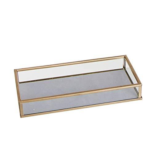 Preisvergleich Produktbild Unbekannt Taschenleerer mit Samtboden,  Glas / Metall,  grau,  20 cm