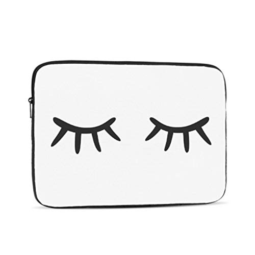 MacBook Protective Case Closed Eyes On White MacBook Accessories Multi-Color & Size Choices10/12/13/15/17 Inch Computer Tablet Briefcase Carrying Bag