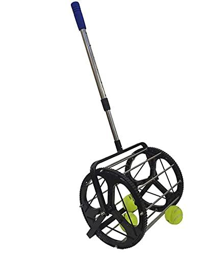 Raccoglitore di palline, raccoglitore di palline da tennis, raccoglitore di palline da tennis 2 in 1 - Contiene 50 palline da tennis o palline da pickleball, per lo strumento di allenamento delle