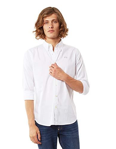 La Martina Leon Camisa Casual, Blanco (Optic White 00001), Medium para Hombre