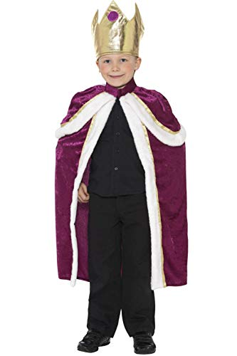 Smiffys Costume Re bambino, Viola, con veste e corona