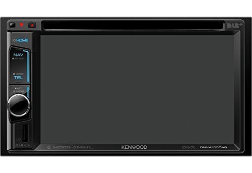 Kenwood Electronics DNX4150DAB Bluetooth Schwarz - Auto Media-Receiver (Schwarz, 4.0 Kanäle, 50 W, CD-DA,CD-R,CD-RW,DVD+R,DVD+RW,DVD-R,DVD-RW, 98 dB, NTSC,PAL)