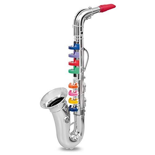 AILSAYA Kindersaxophon, Windinstrument-Spielzeug Goldenes Saxophon-Party-Instrument, Mini-Saxophon-Saxophon-Modell Für Alle Kinder Geeignet,A