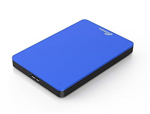 Sonnics 1TB Blau Externe tragbare Festplatte USB 3.0 super schnelle Übertragungsgeschwindigkeit für den Einsatz mit Windows PC,Mac, XBOX ONE und PS4 Fat32