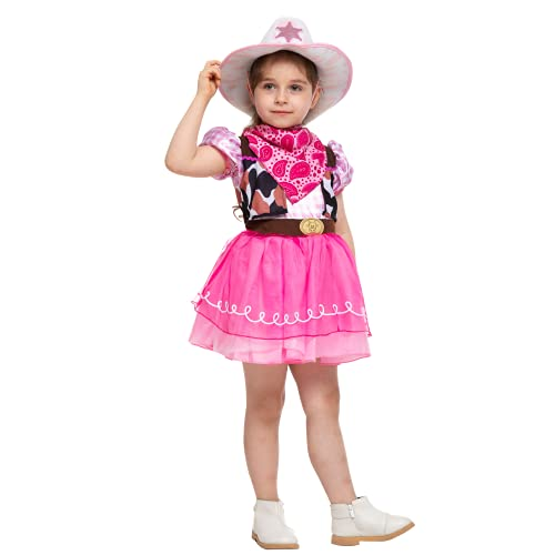Child Girl Cowgirl costume pink (Small (5-7yr))