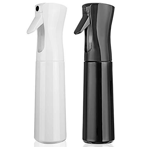 Hair Spray Bottle Empty Plastic Trigger Spray Bottle Refillable Fine Mist Sprayer Bottle 2 Pack 10oz...