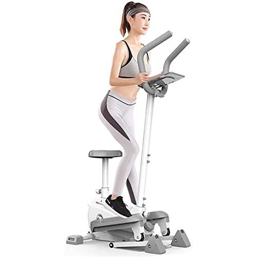 ZBYY Spin Bikes para máquinas de entrenamiento en el hogar, máquina de pedales de bicicleta elíptica para uso en el hogar u oficina, silencioso, monitor de pantalla integrado, fácil de montar