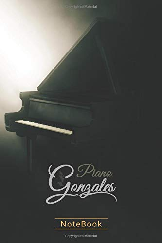 Piano Gonzales Notebook: Piano Gonzales Notebook (6x9 inches) Journal. Perfect as a gift for Music composers and Gonzales Chilly Lovers. Great gift for friends and lovers.