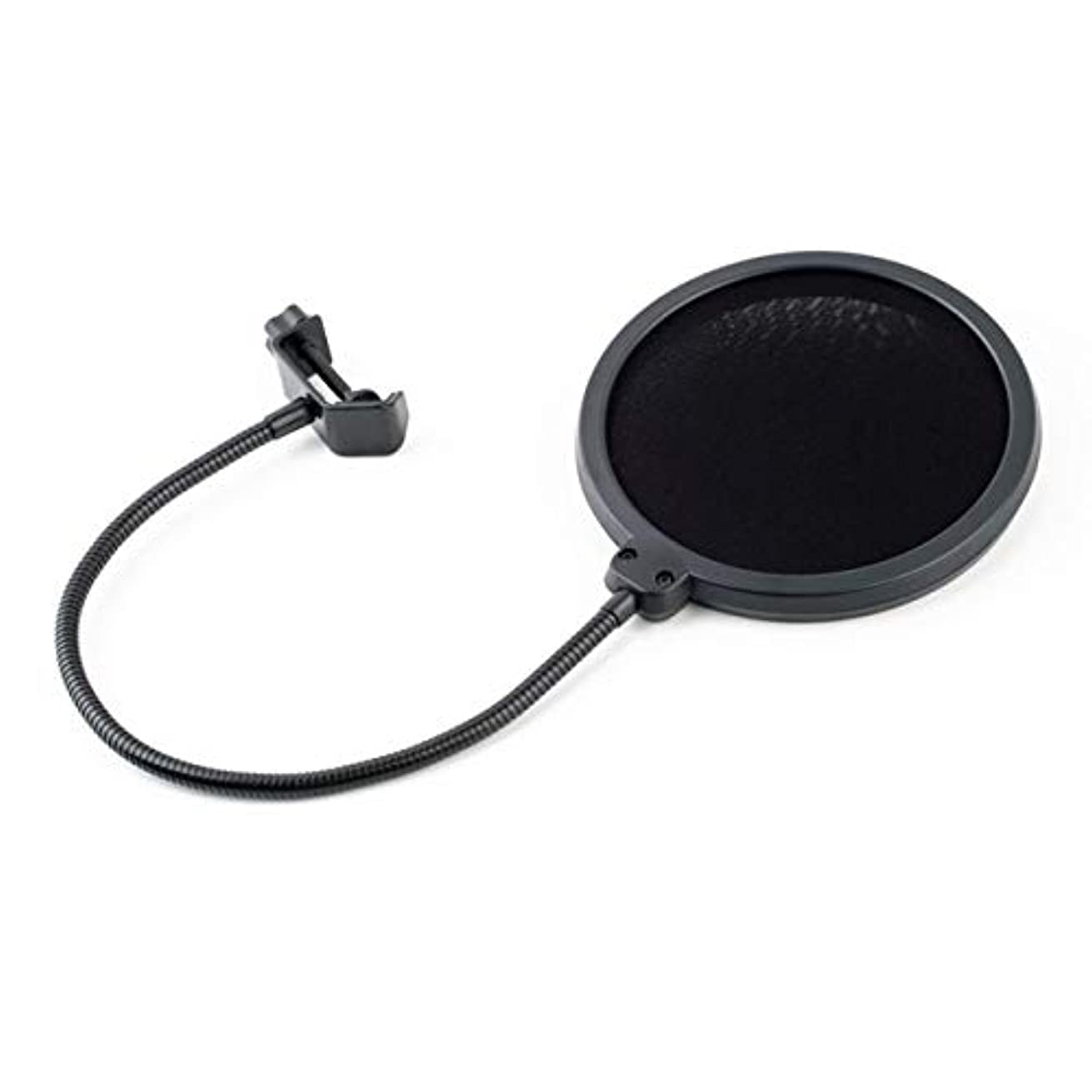 XuBa Professional Flexible Double Layer Studio Recording Mic Microphone Wind Screen Clamp On Pop Filter Mask Shied Gooseneck Black Show