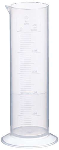 neoLab E-4039 - Probeta graduada (baja, 1000 ml, 25 ml, polipropileno, base redonda)