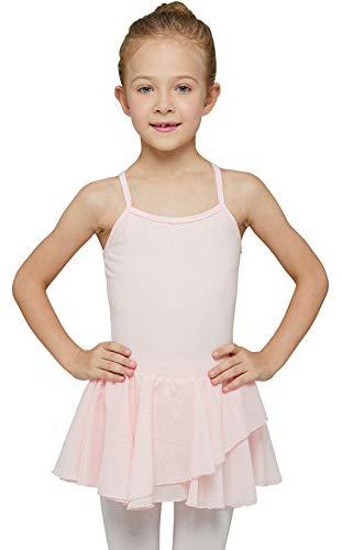 MdnMd Leotard for Girls Kids Dance Ballet Outfit Costume Gymnastic Ballerina Dress Tutu (Ballet Pink, Age 6-8)