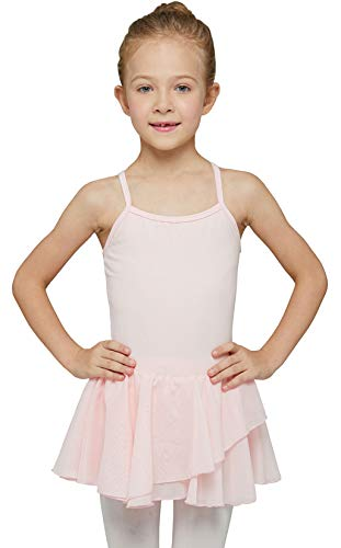 MdnMd Camisole Tutu Skirted Dance Ballet Leotard for Toddler Girls Gymnastic Ballerina Outfit (Ballet Pink, Age 2-4 / 2t,3t) New Jersey