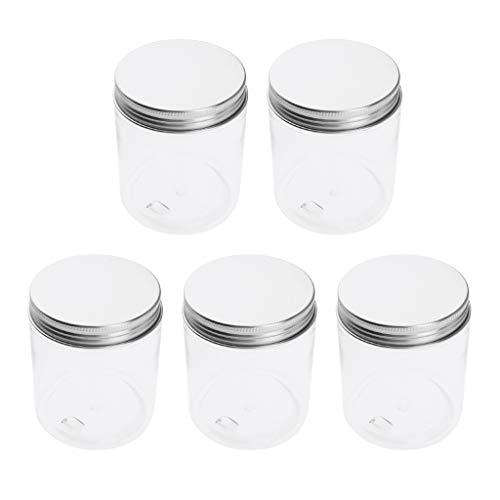 B Blesiya 5pcs 250/120 ml Pots Vide de Maquillage Récipient de Cosmétiques Rangement Produits de Beauté pour Voyage - 120 ml 68x50 mm