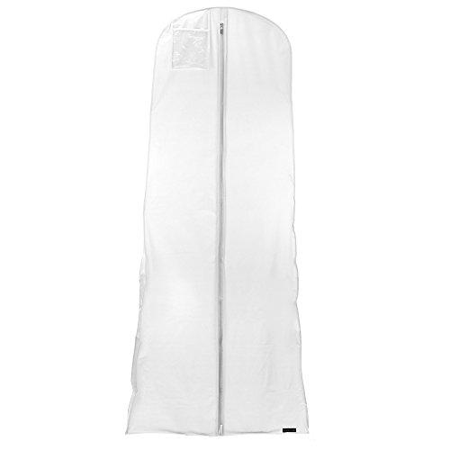 Hangerworld Lot de 10 Housses de Robe de Mariée Blanches Etanches 183cm