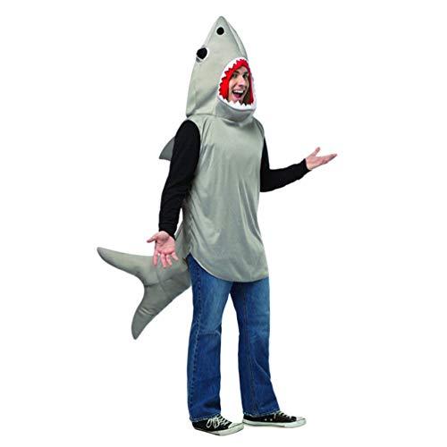 Mingdoo Haifisch Kostüme für Erwachsene Cosplay Halloween Outfit Hai Kostüm Sweatshirt - Hai, Freie Größe