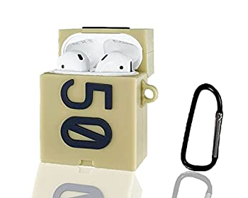 Airpods Case Silicone Sneaker 350 Shoe Box Case Compatible for Apple Airpods 2/1  Shockproof Airpods Case Cover Accessories with Keychain for Kids Girls Teens Boys Men Women