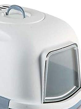 Stefanplast -Super Queen 55 x 71 x 46.5 cm. Maison de Toilette pour Grand Chat. Bleu Acier.-ZO-59006BAC