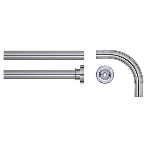 Sealskin Winkel Duschvorhangstange, Aluminium, Farbe: Chrom glänzend, Durchmesser 28 mm, 90 x 90 cm
