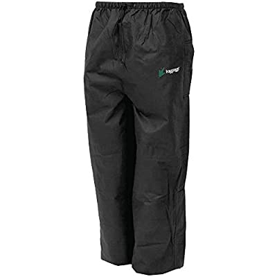 FROGG TOGGS Men's Bull Frogg Waterproof Rain Pant, Black, Small