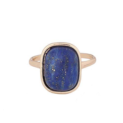 SHINE SHUNA Rectangular Blue Lapis Ring Birthday Gifts Ring For Women