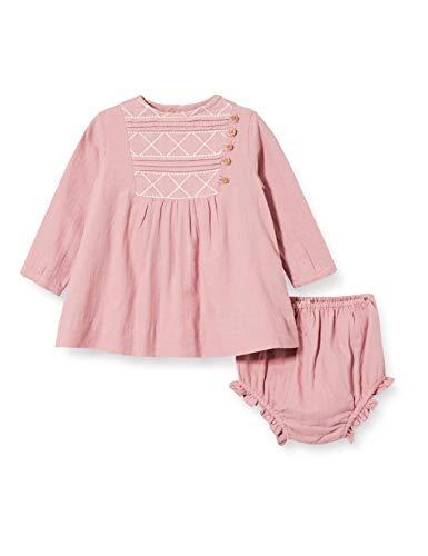 Gocco Vestido Bordado Berenjena Dress, Rosa Medio, 43991 para Bebés