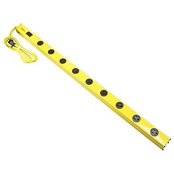 Yellow Jacket 5153 Wrokshop Bar 9-Outlet Power Strip