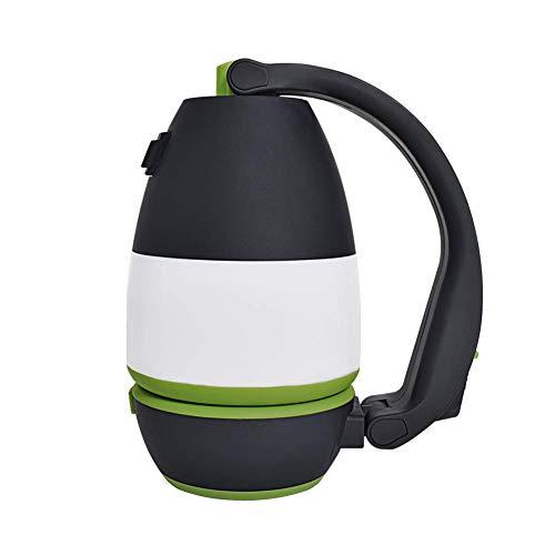 Portátil 3-en-1 Linterna LED Carpa de luz LED para Camping Bombilla USB Powered lámpara Que acampa para la Pesca Que acampa yendo de Emergencia Verde y Negro