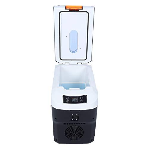 CUEA Mini refrigerador de 10 l, refrigerador y Calentador Compacto portátil de Gran Capacidad con Control de Temperatura, Pantalla de Temperatura, Mini refrigerador con congelador(EU Plug 220V)