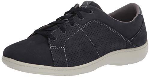 Aravon womens Lia Tie Sneaker, Blue, 6.5 X-Wide US