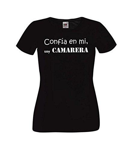 Camisetas divertidas Parent confia en mi, Soy Camarera - para Mujer Camiseta