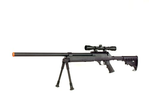 metaltac mb06 sr-2 tactical airsoft sniper rifle w/ 3-9x32...