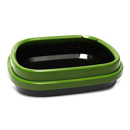 RRCT-Cat toilet extra diep grote kat nestlade zwart groene doos pan toilet Loo Kitten hoge zijden, 1