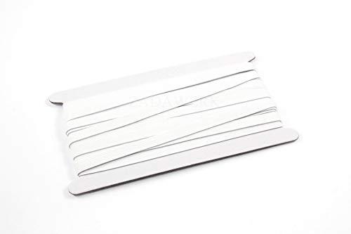 ZADAWERK® Gummiband - 1 cm x 10 m - Weiß - elastisch, zum Nähen von Kleidung DIY