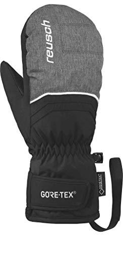Reusch Kinder Tommy GTX Velcro Junior Mitten Handschuh, Black/Black Melange, 6