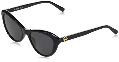 Love Moschino MOL015/S Gafas de sol, Negro (Black), 53.0 para Mujer