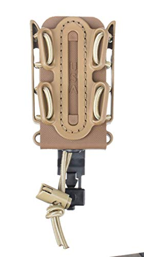 G-CODE (Sand) Soft Shell Scorpion -Short- Pistol Mag Carrier with P1 molle/Stacking Clip 100% Made in The USA (1153-1C)