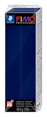 STAEDTLER-8041-34 ST Pasta de modelar de endurecimiento al horno, Color azul marino (8041-34)