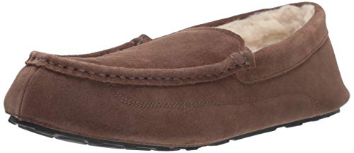 Amazon Essentials Men's Leather Moccasin Slipper, Expresso, 11 M US